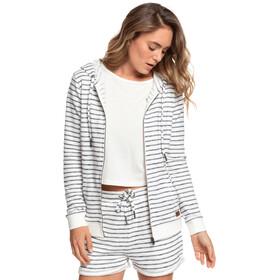 Roxy Trippin Stripes Sudadera Cremallera Mujer, blanco/gris